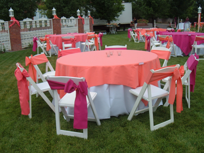Tents Tables and Linens Chair Rental